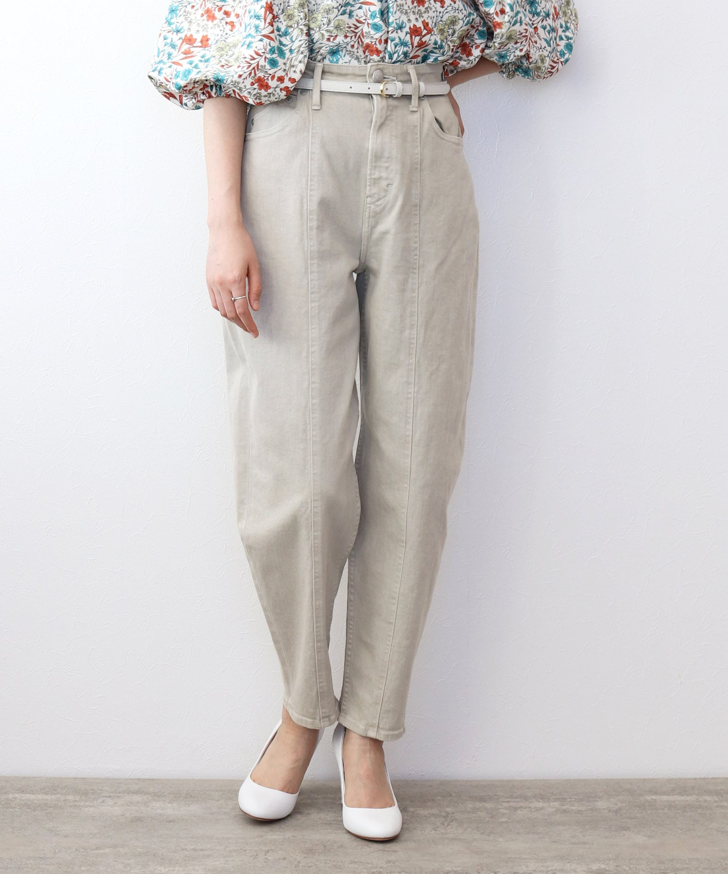 <YANUK>sand color pants