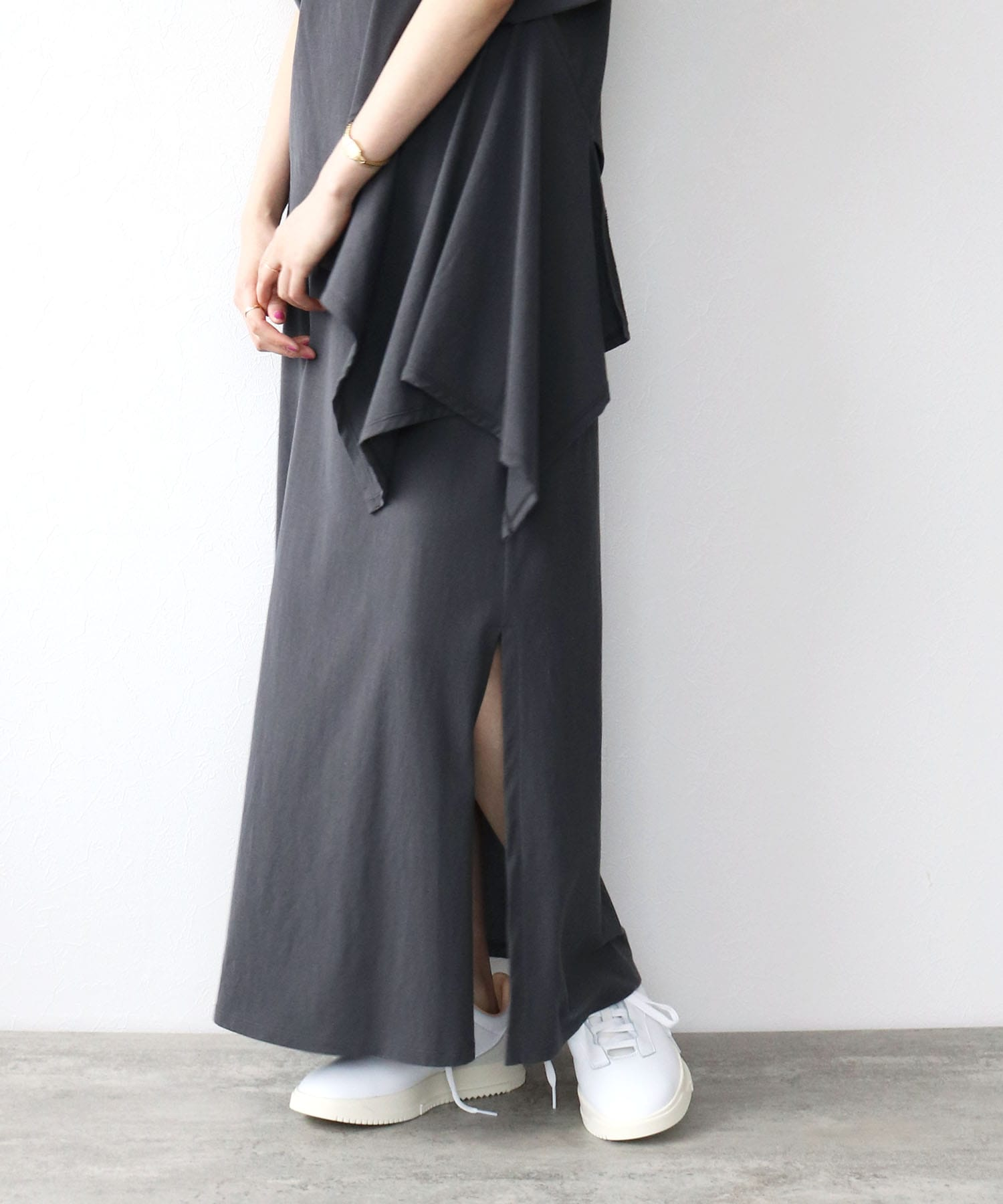 <B7>cotton vintage flare skirt