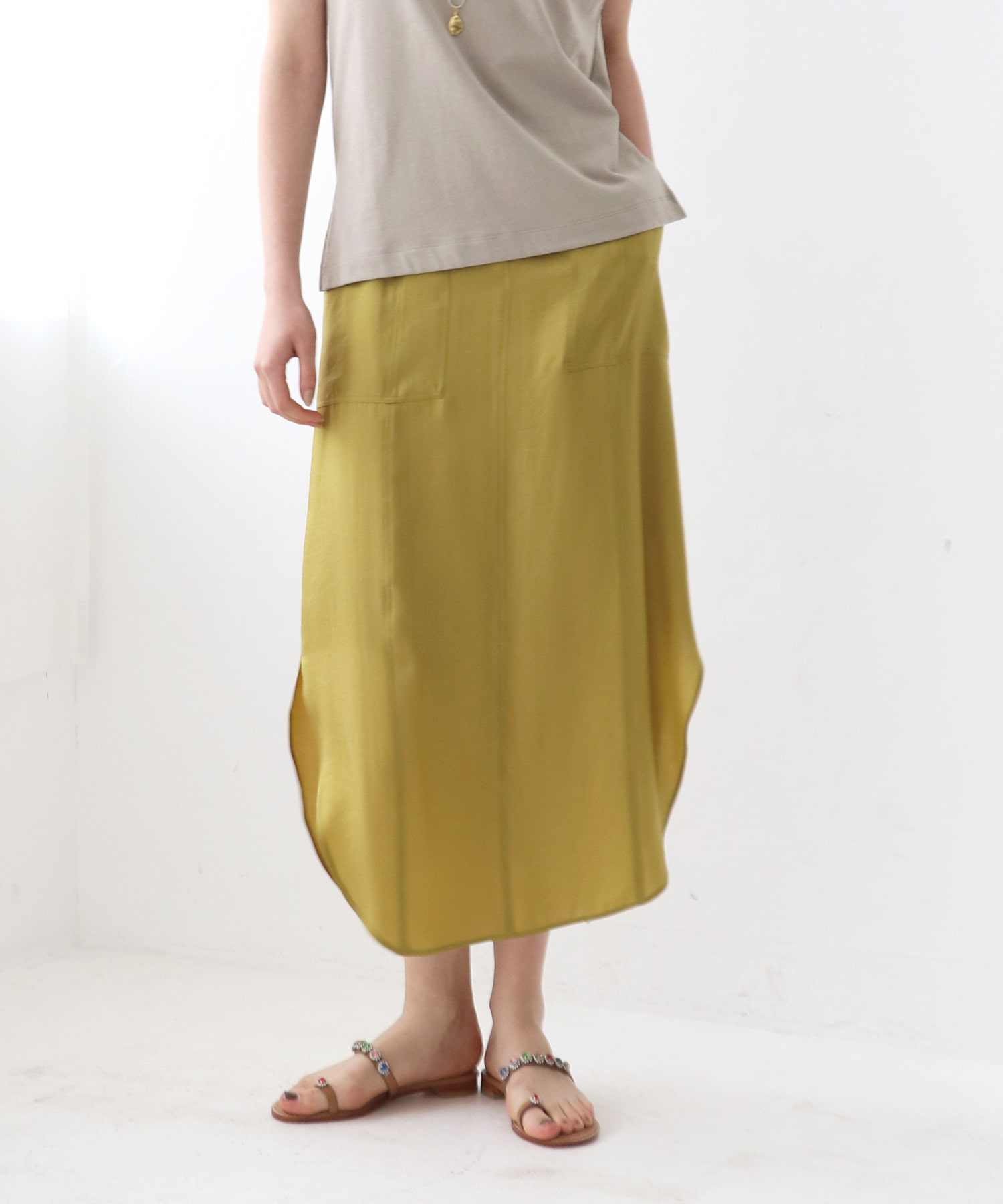 <B7>color vintage skirt