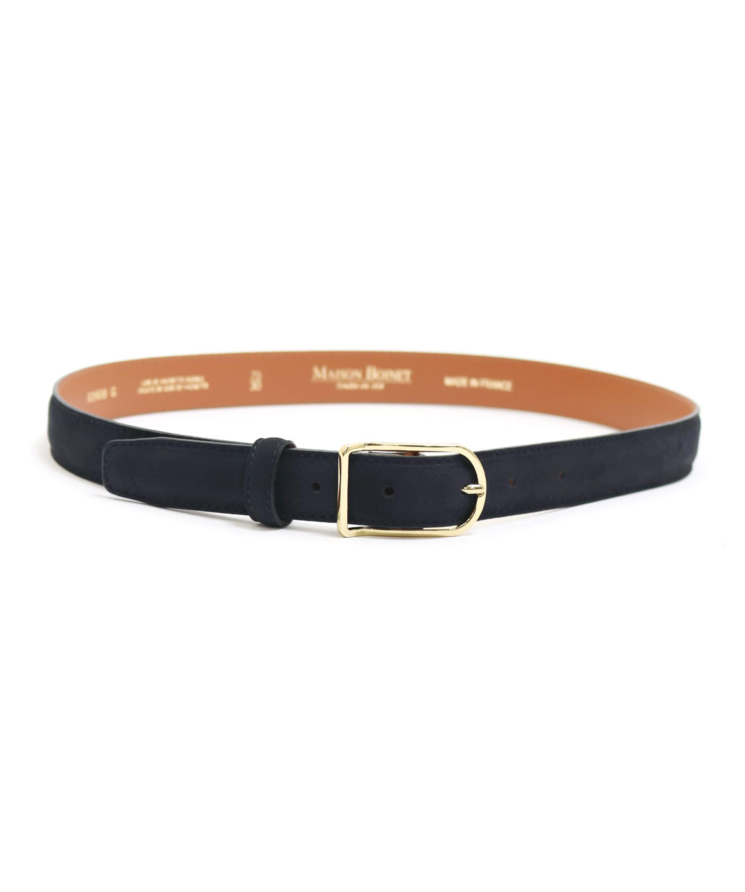 <MAISON BOINET>color leather belt