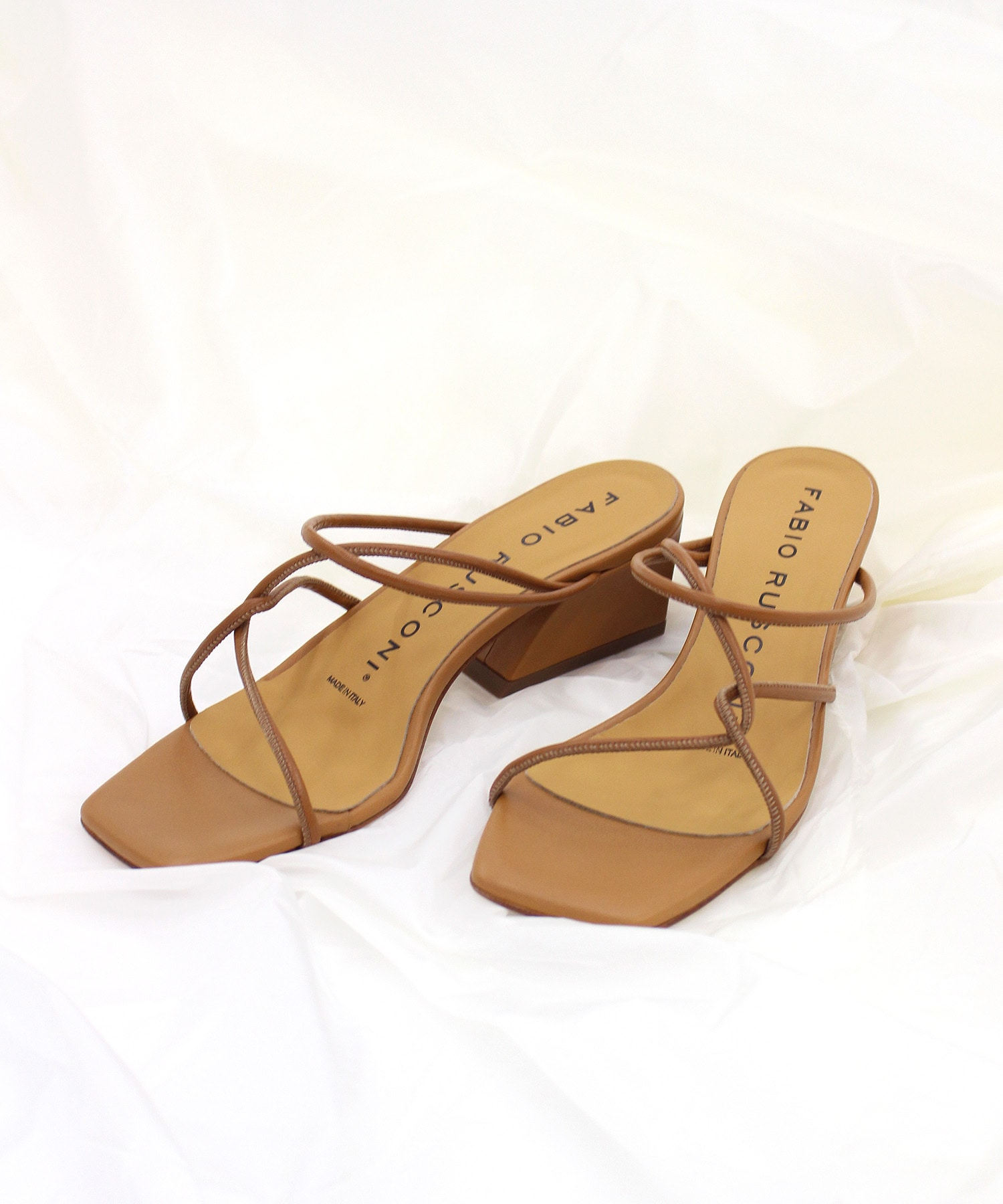 <FABIO RUSCONI>GABRY leather code sandals
