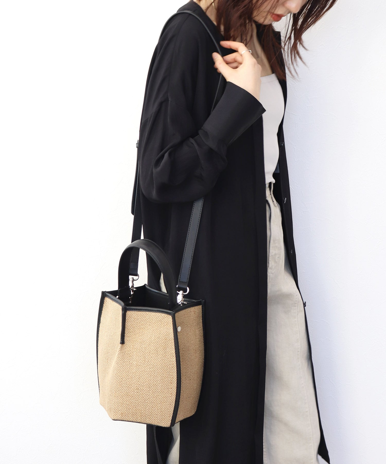 <the dilettante>2way pentagon shoulder bag