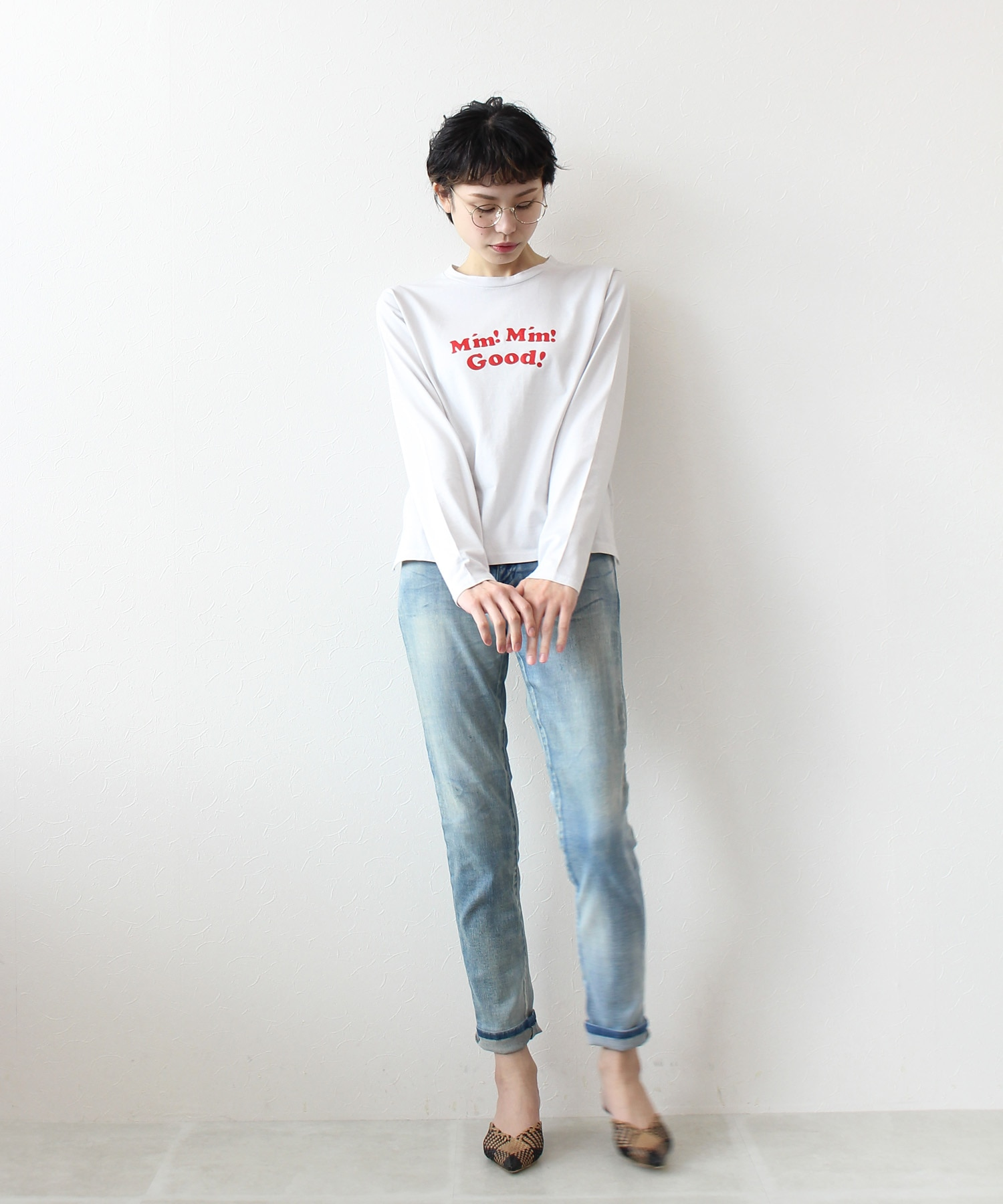 vintage denim tapared pants