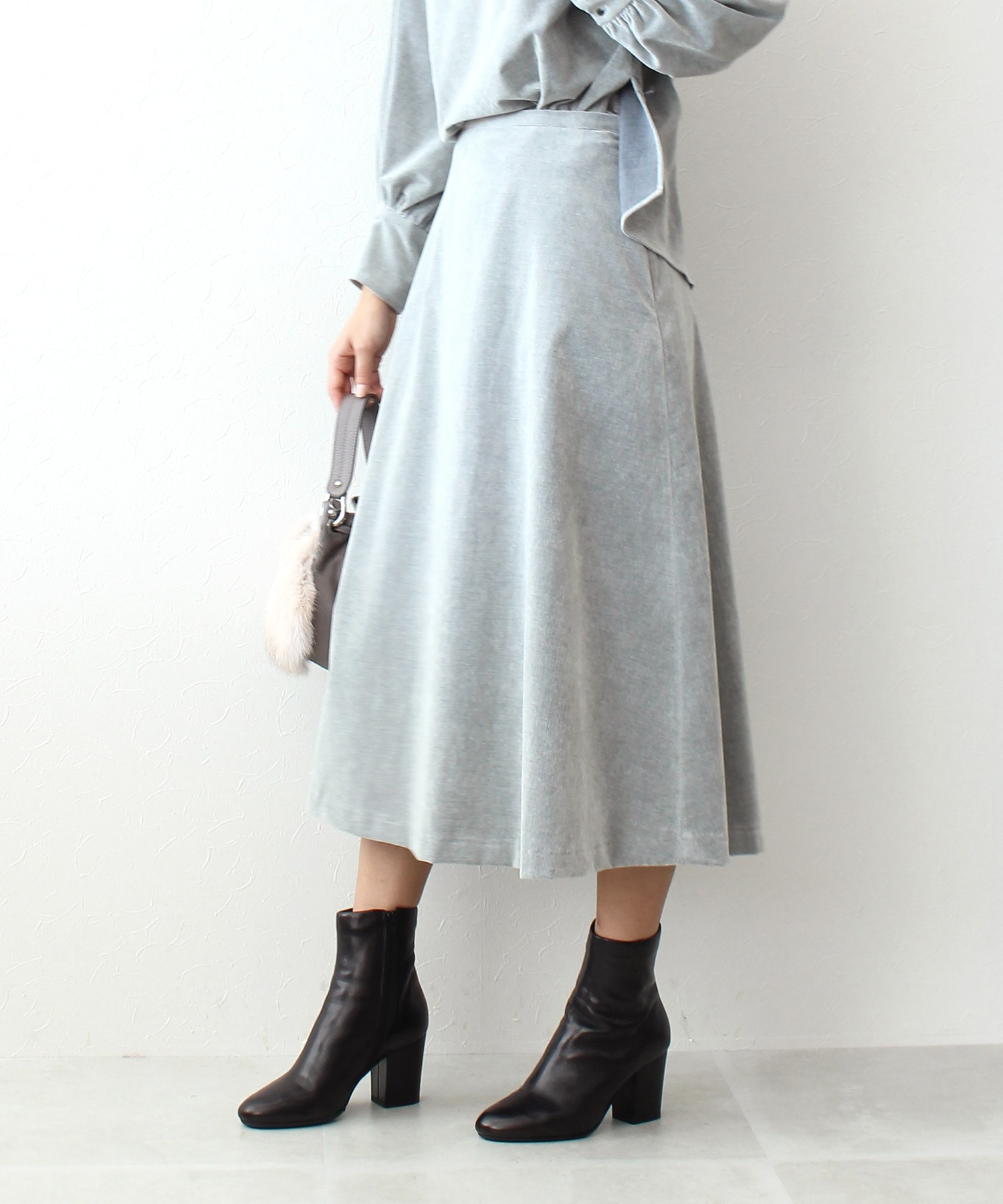 soft corduroy flare skirt