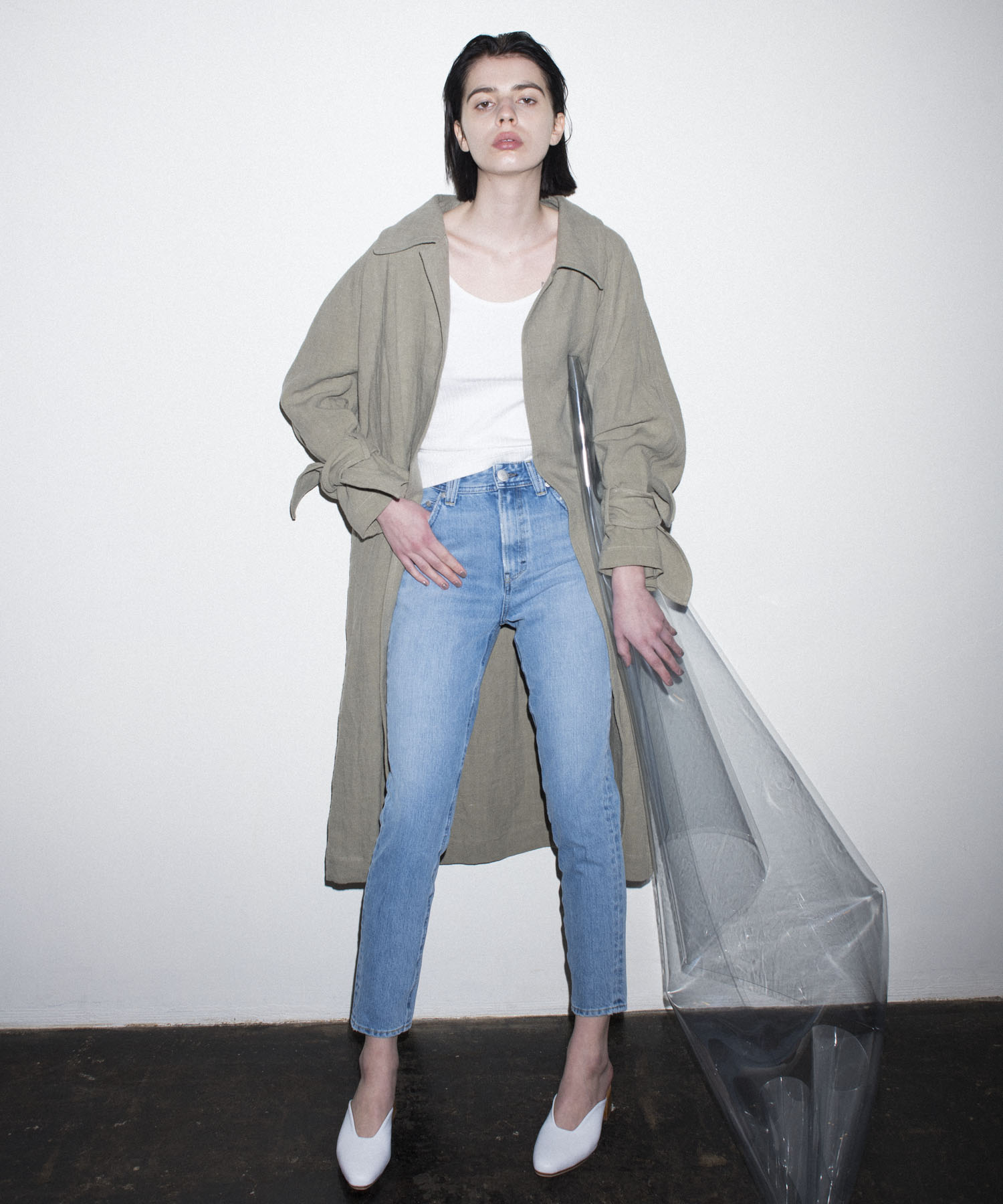 linen big over coat