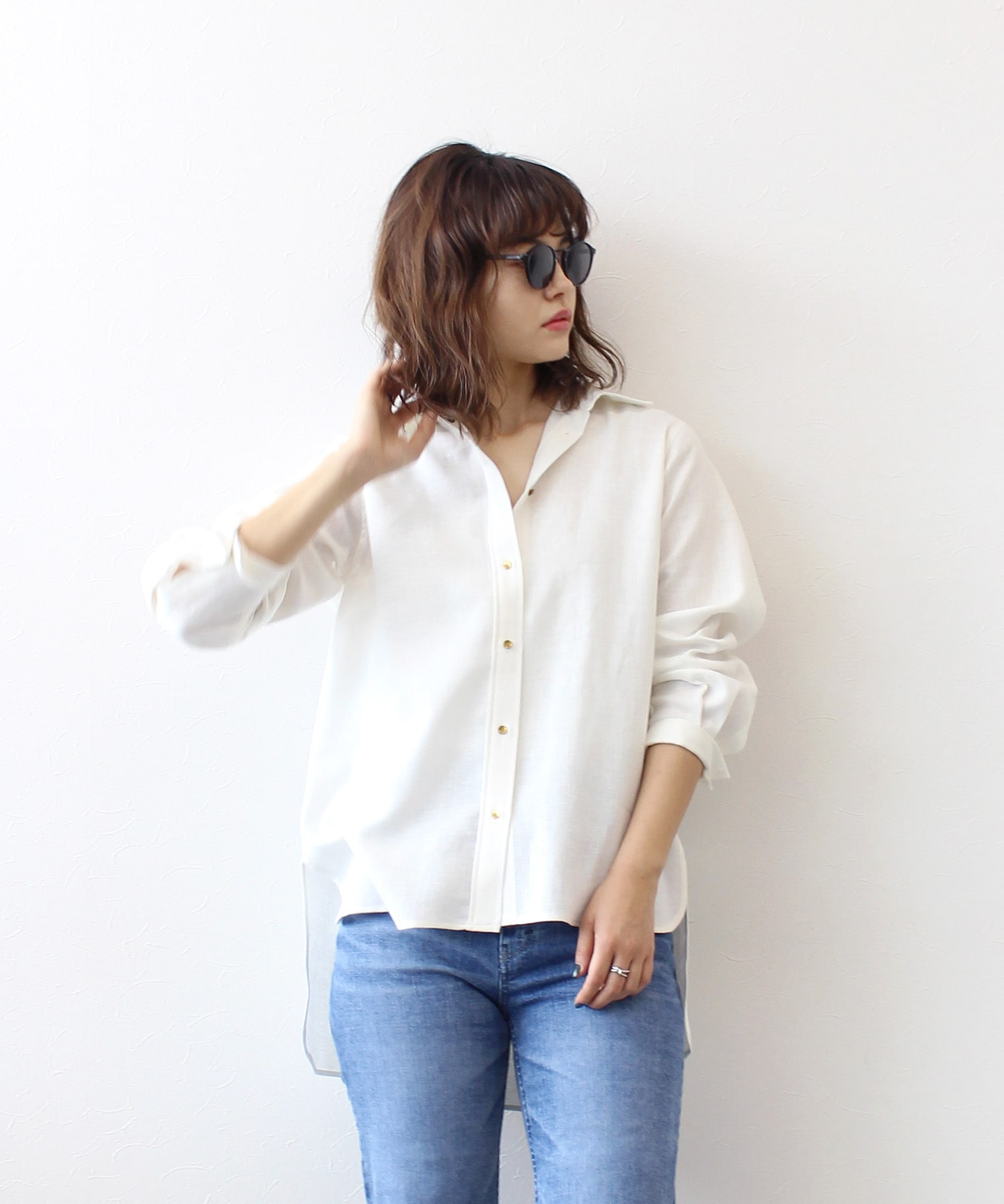 french linen relax shirt
