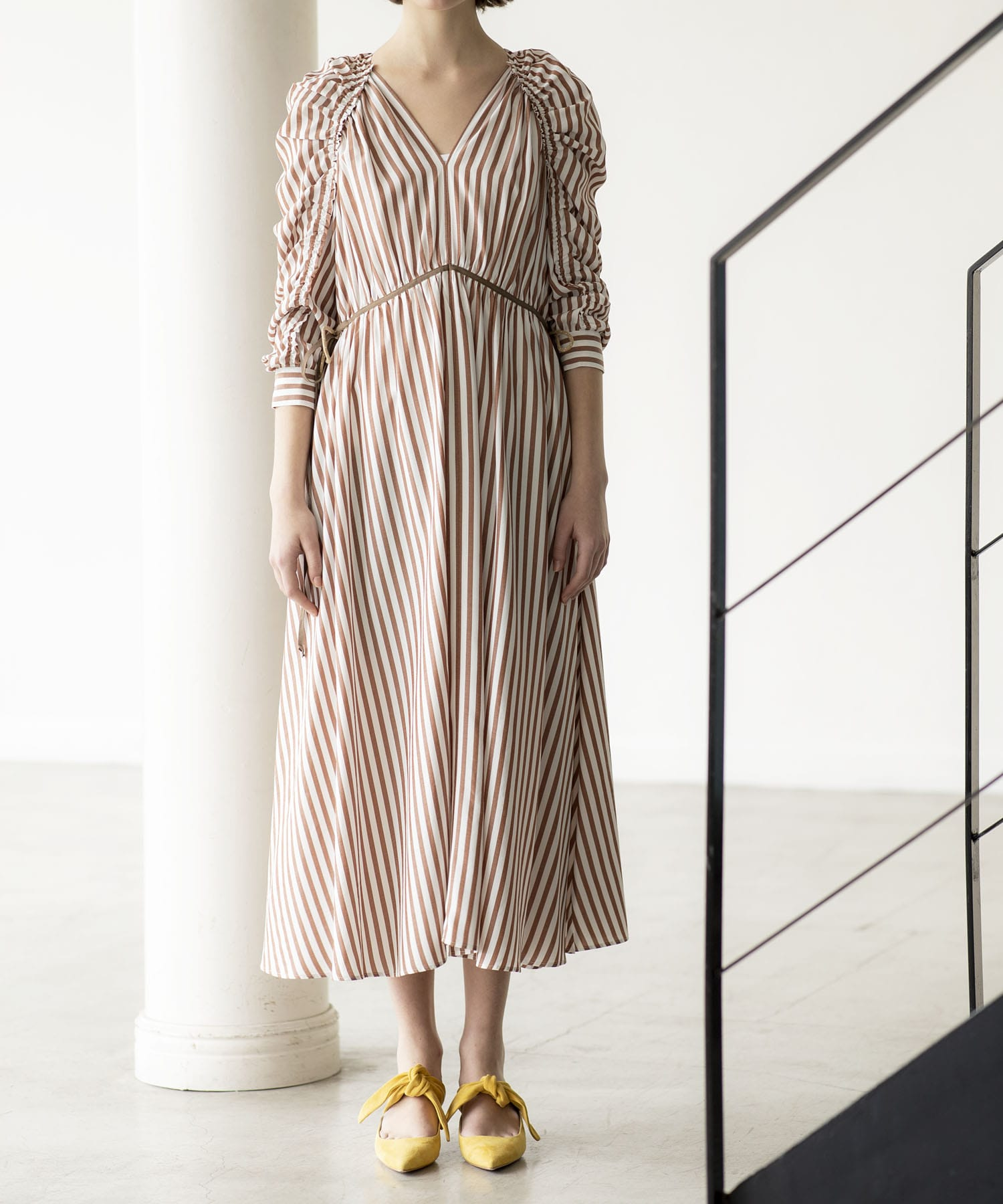 acetate stripe dress