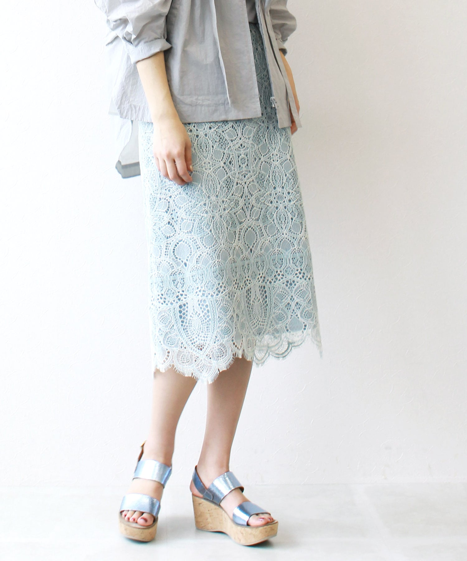 import lace skirt