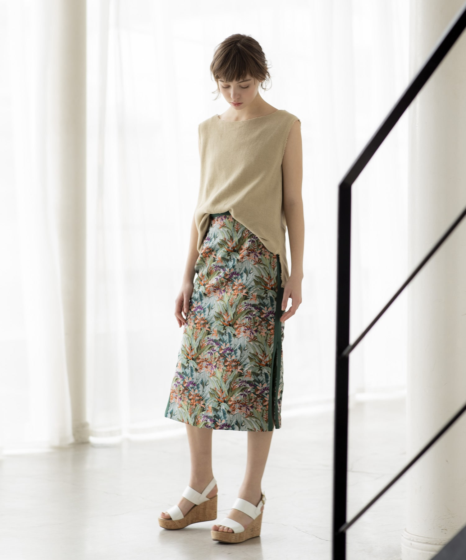 limonta flower jq tight skirt