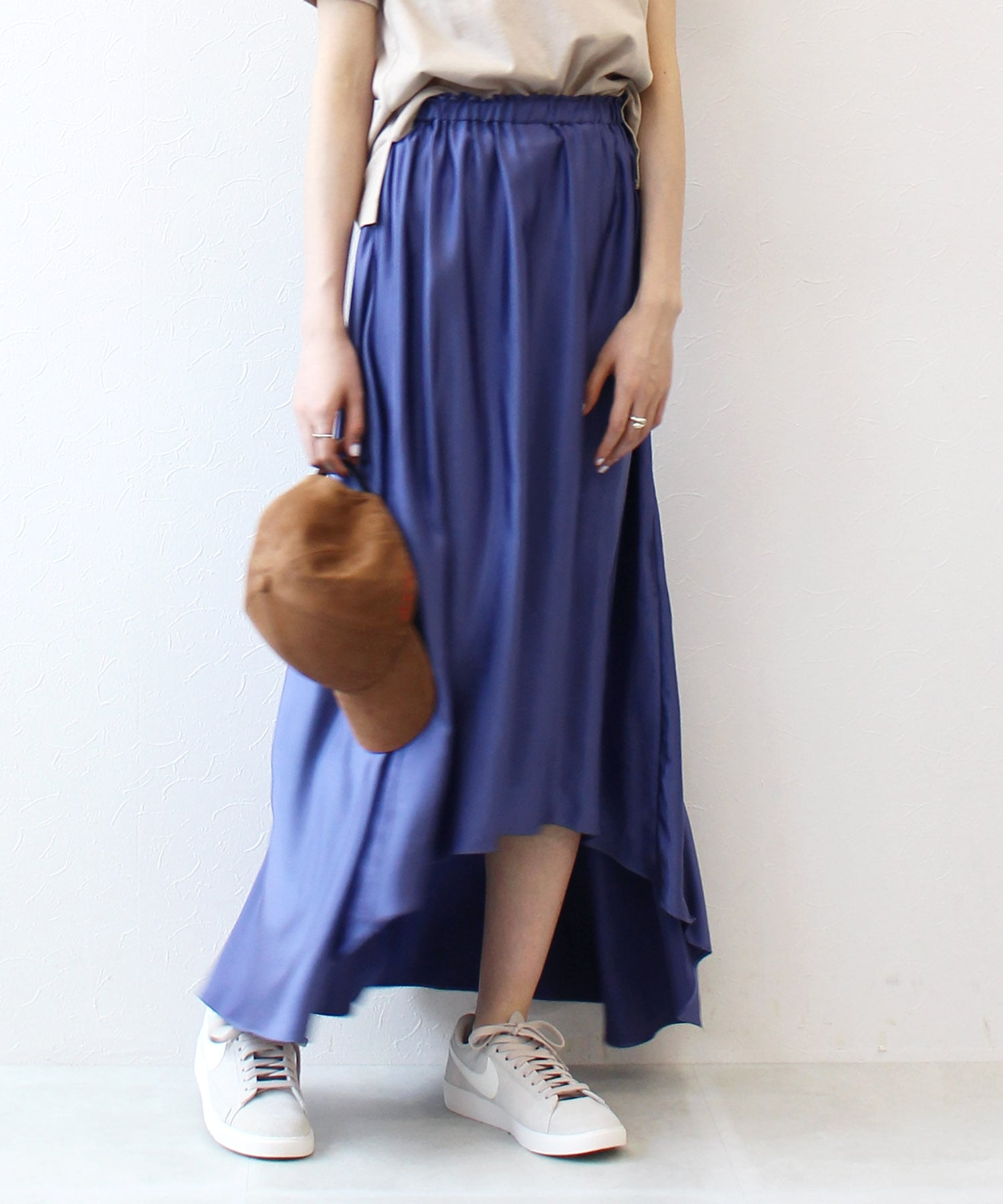 shine drape skirt