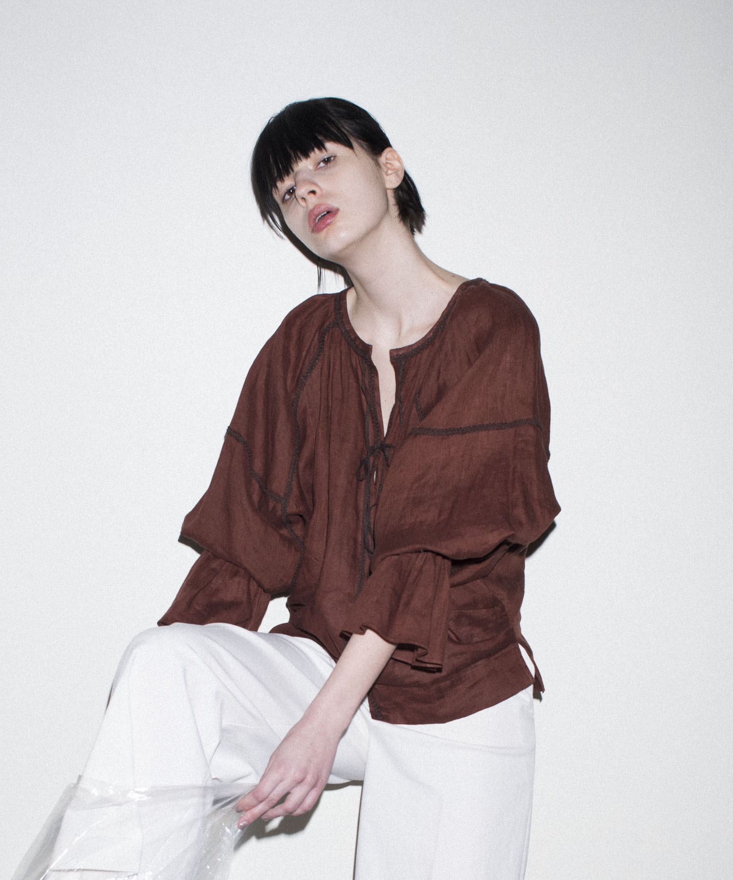 barbara linen blouse