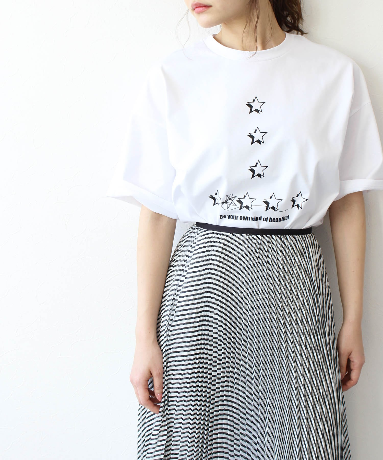 ☆huit cotton t-shirt