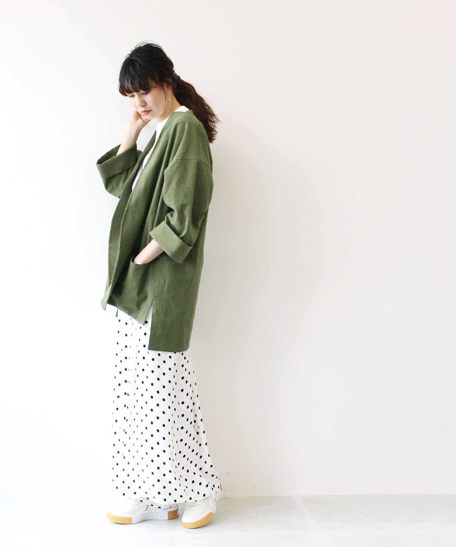 linen cotton no callor over jacket