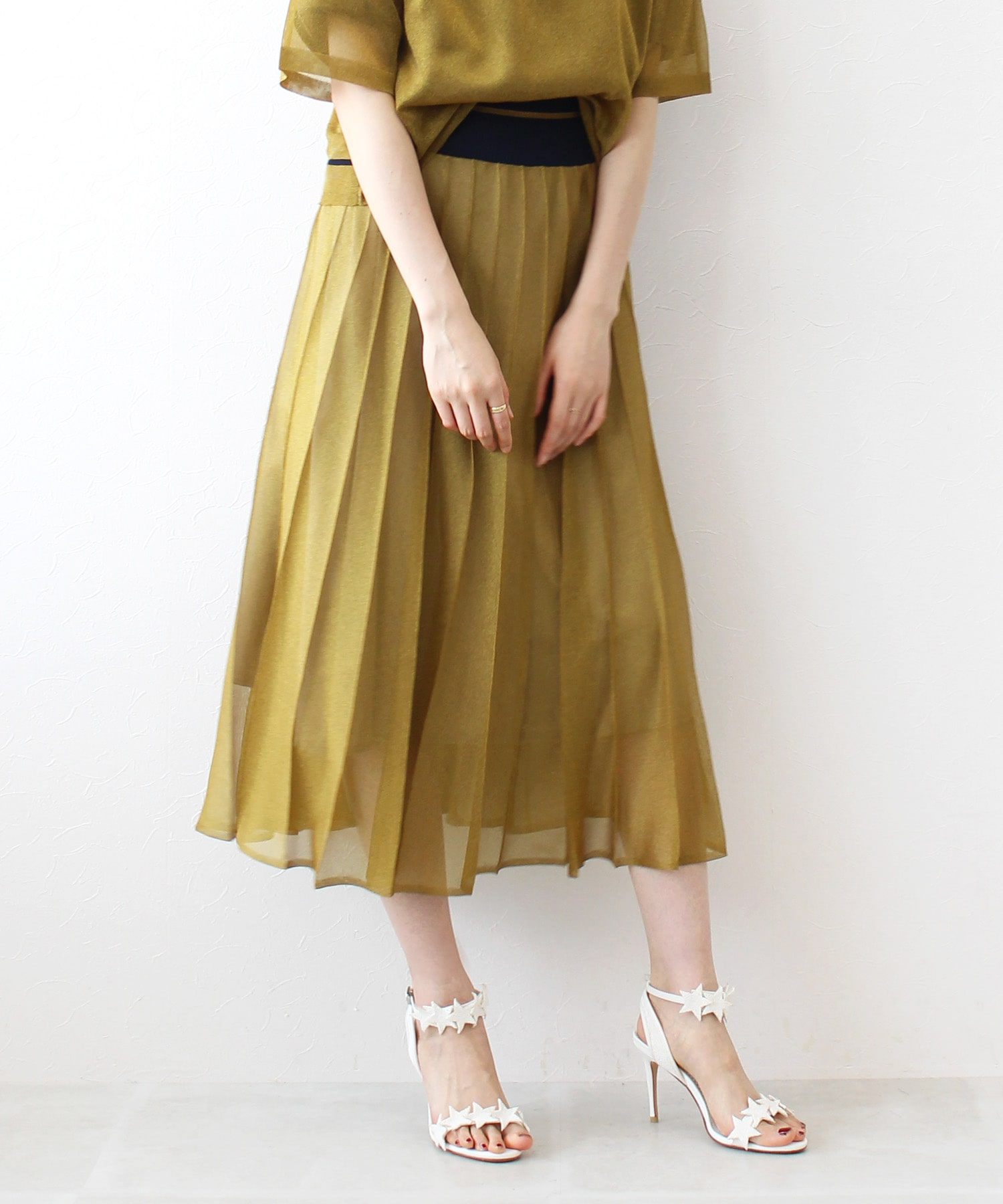 papillon knit flare skirt