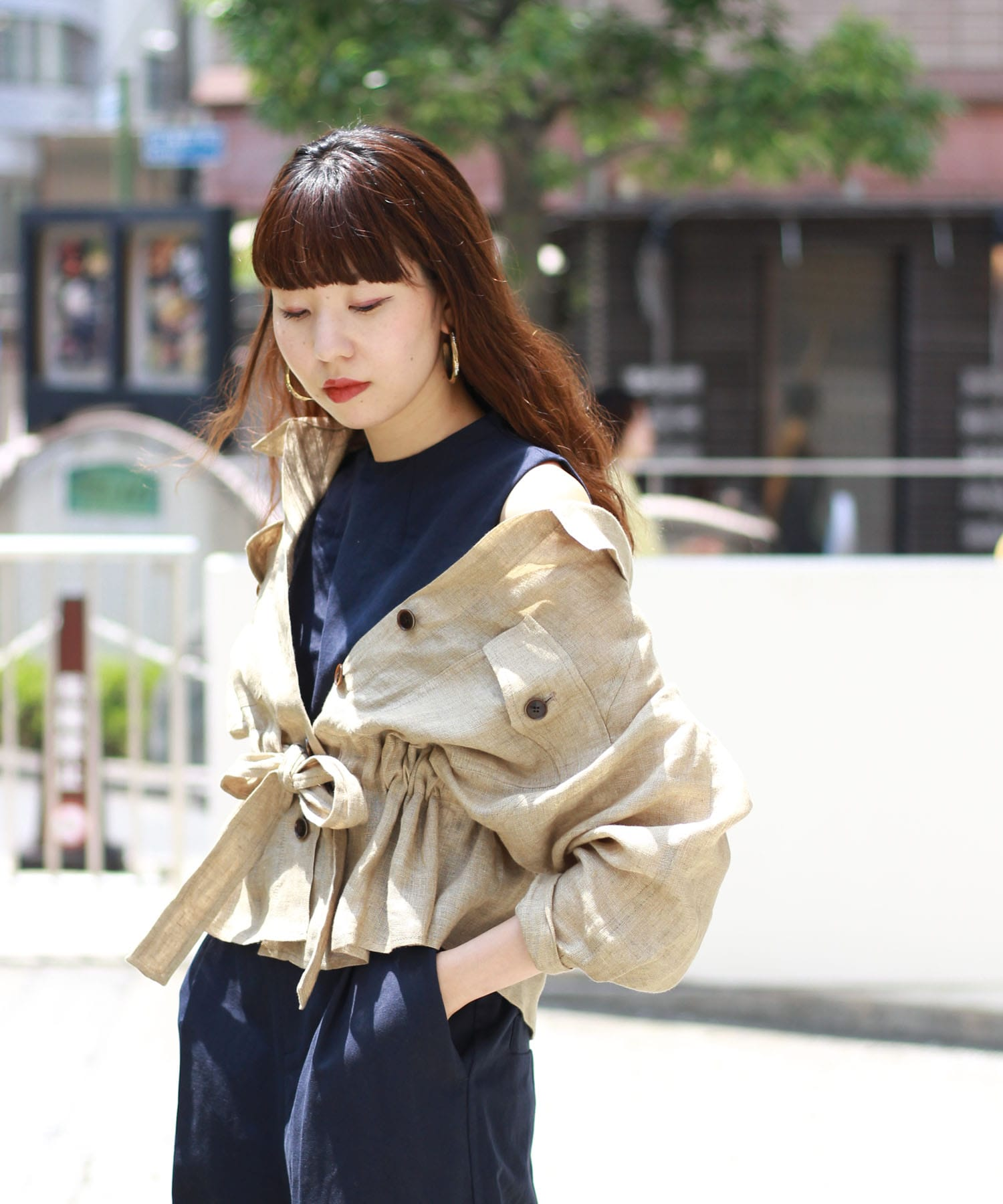 light linen over shirt blouson