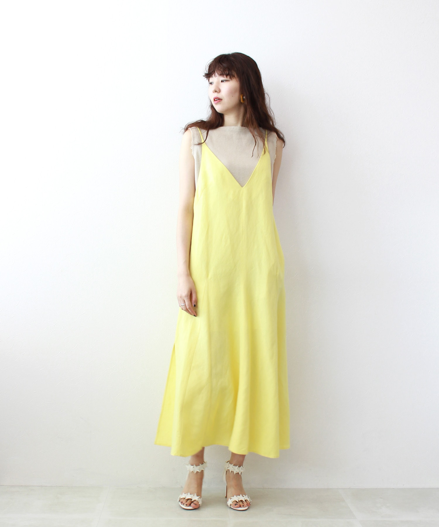 linen rayon cami dress