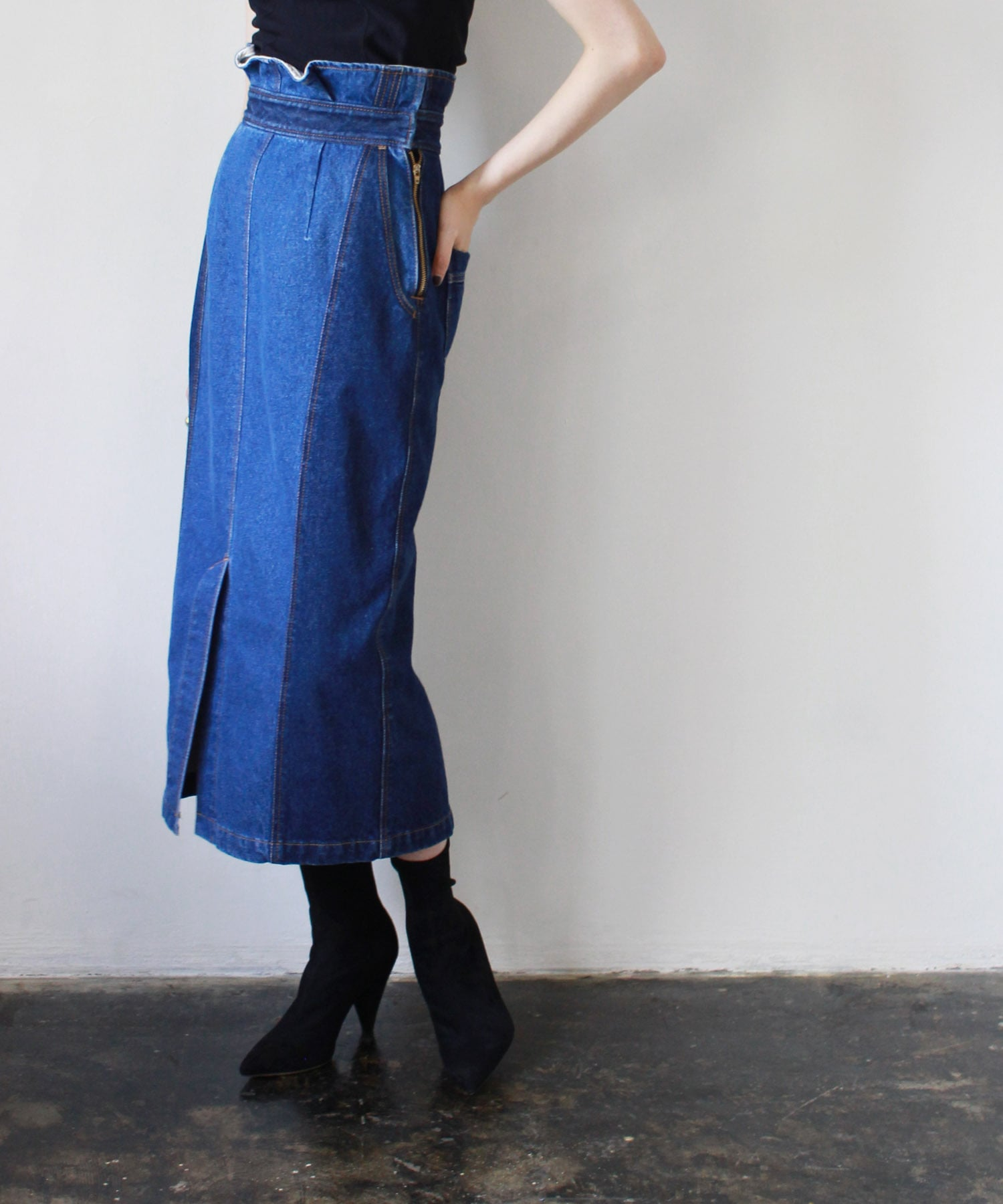 light&shade denim pencil skirt