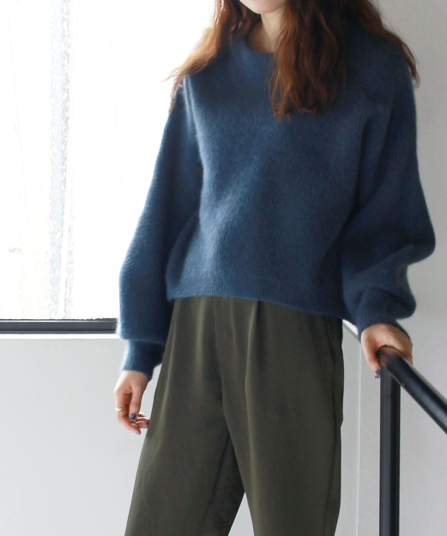 raccoon wool pullover