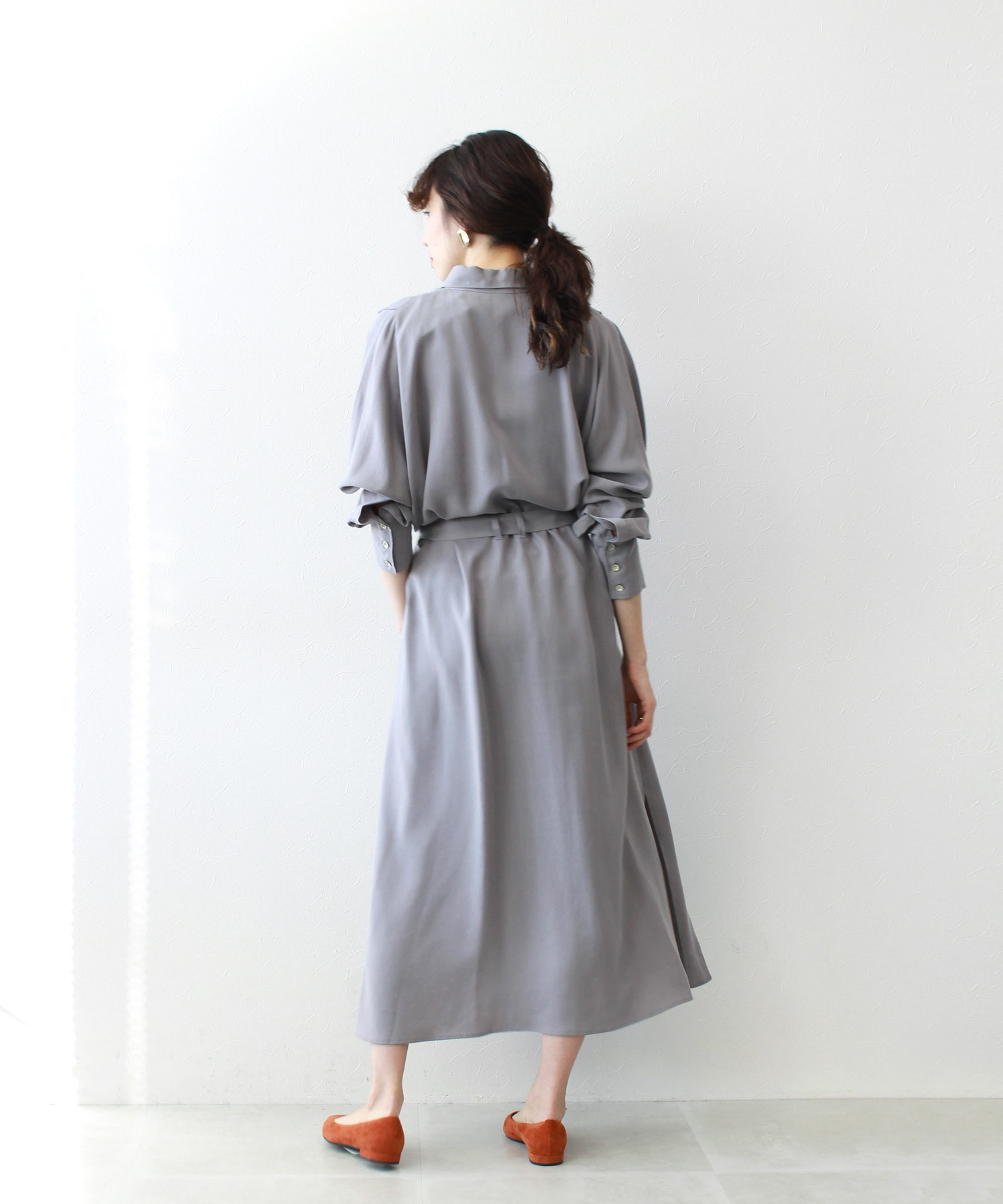lyocell bio slit shirt dress