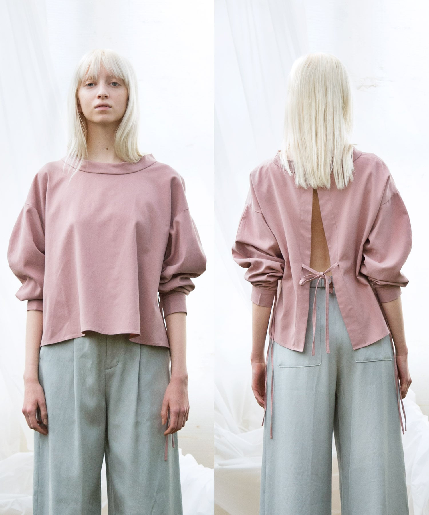 gather sleeve blouse