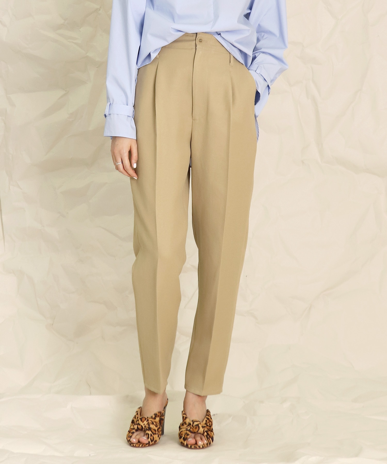 span twill tapared pants