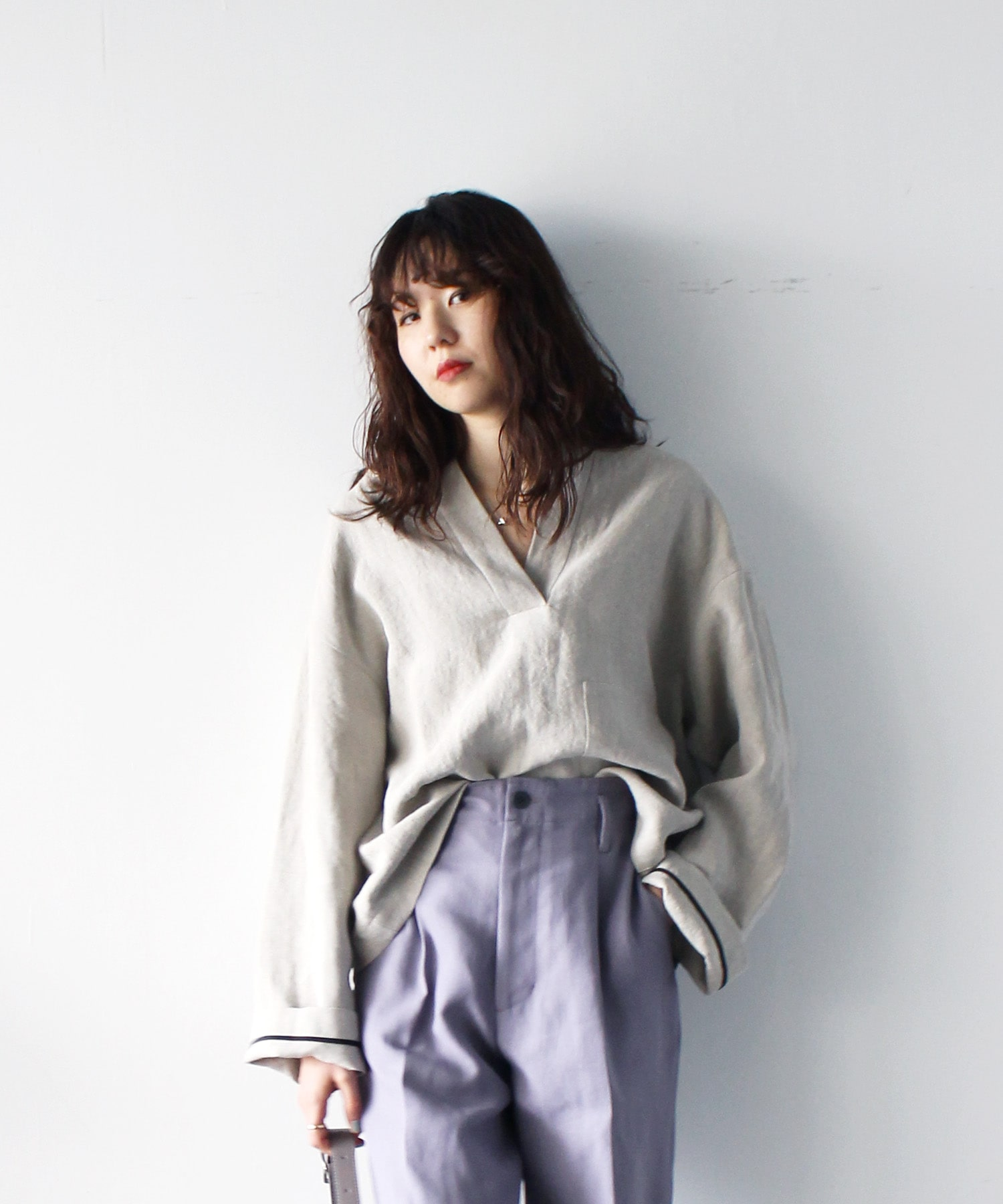linen over blouse