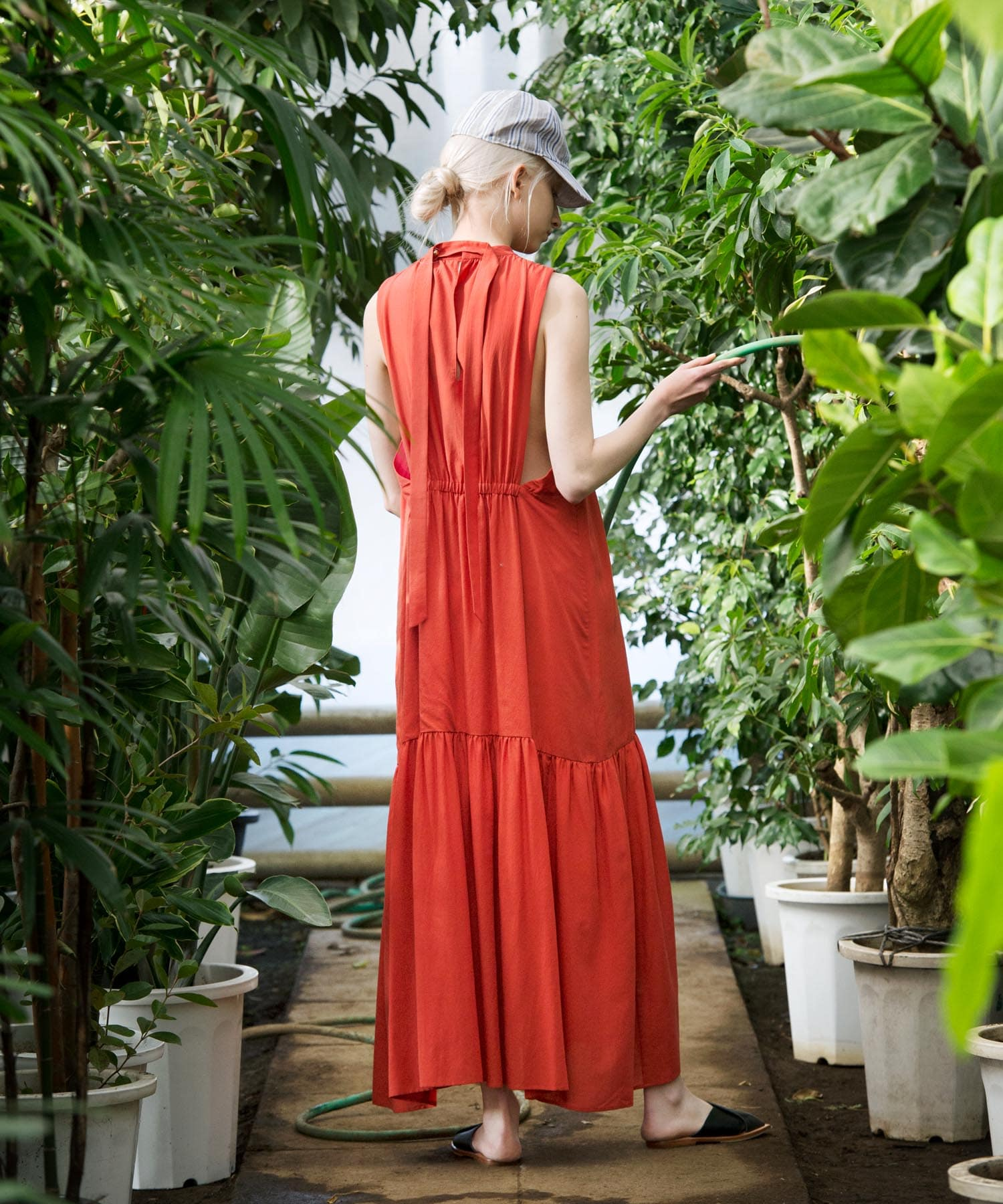 washer color maxi dress