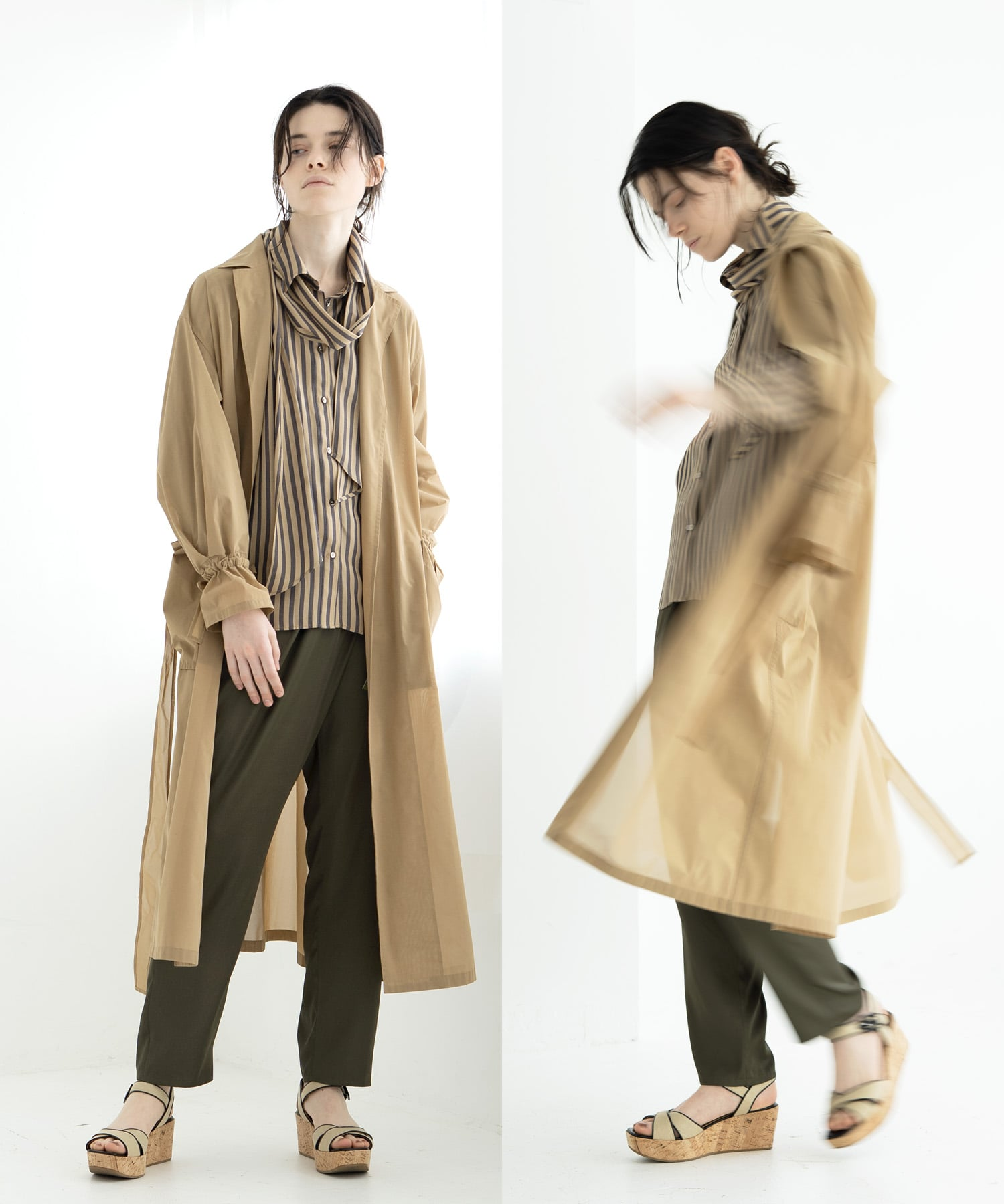 sheer organdy  spring coat