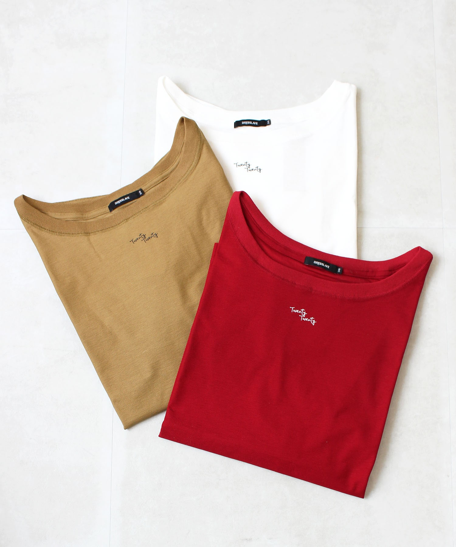 cotton hem draw long tee