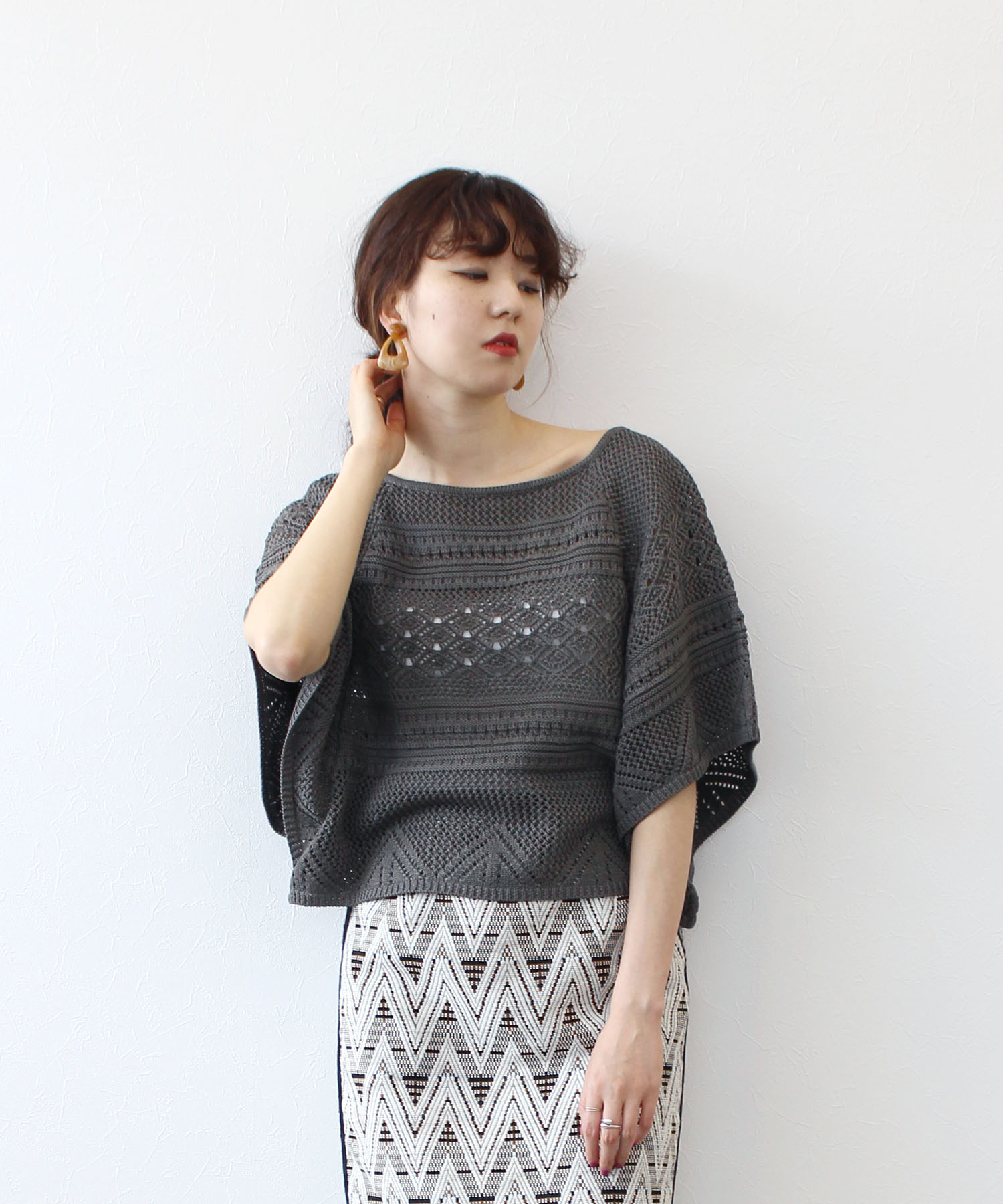 cotton tapeyarn poncho