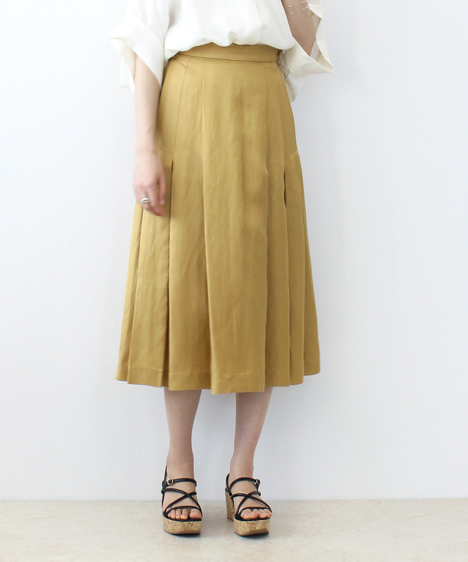 acetate linen tack skirt