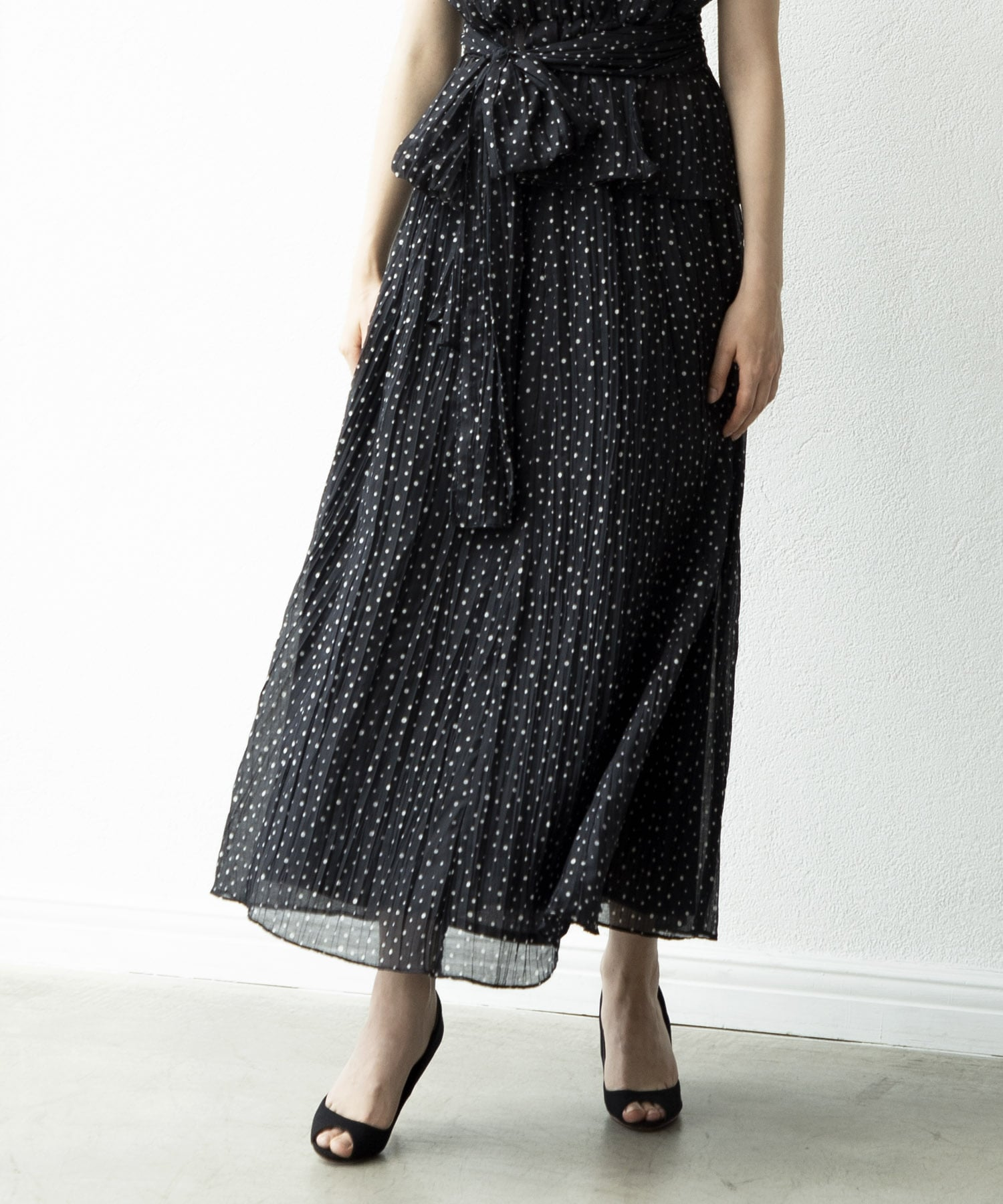 washer dot long skirt