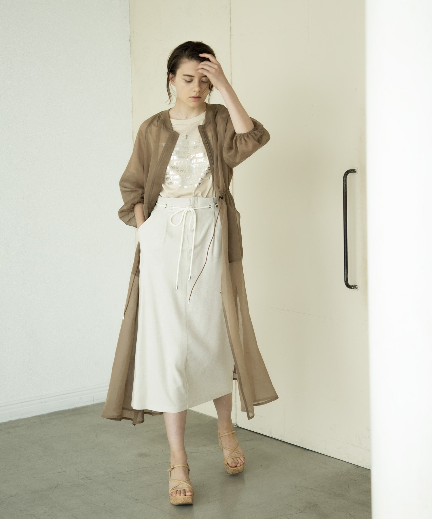 soft organdy dress coat