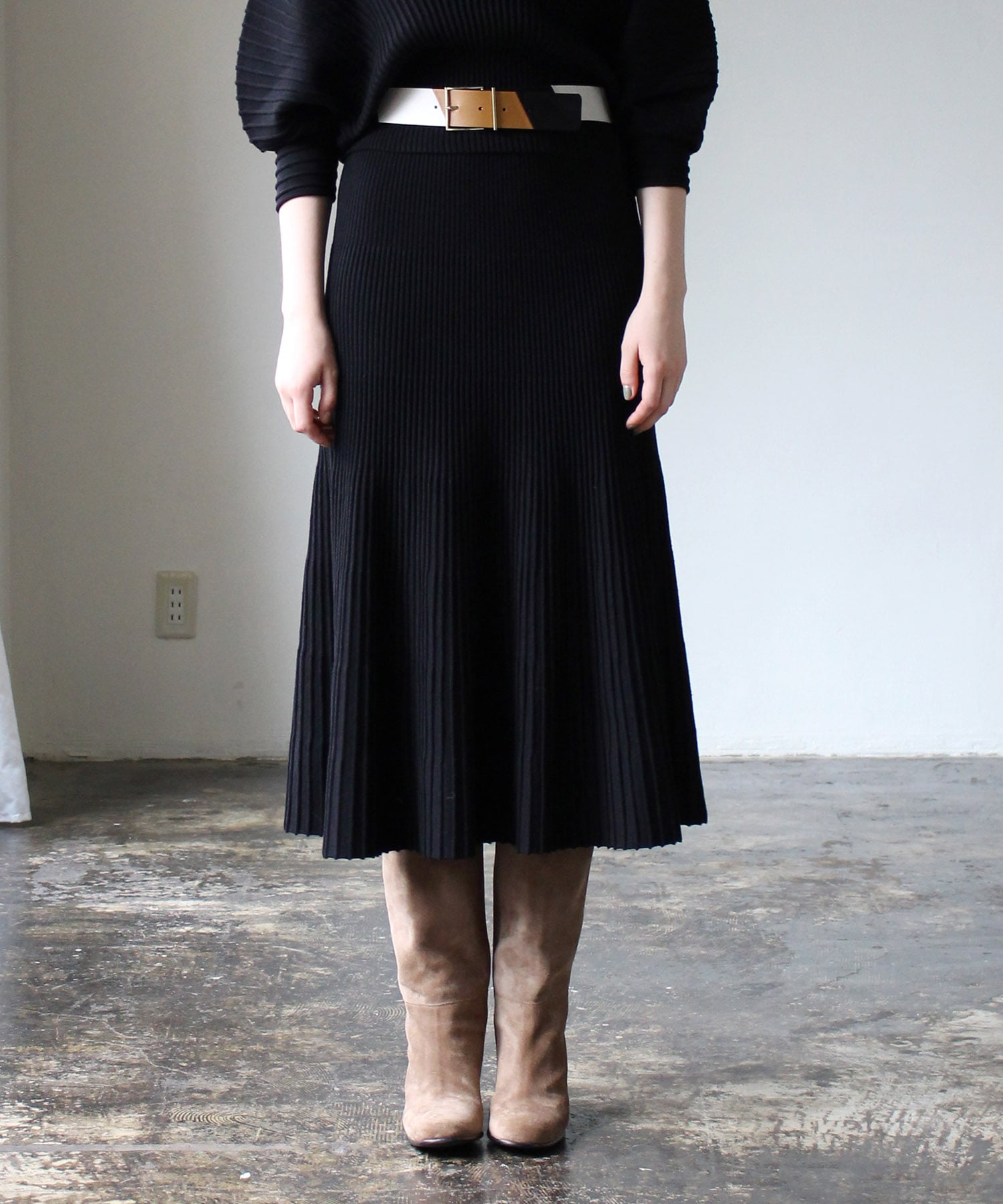 wholegament flare skirt