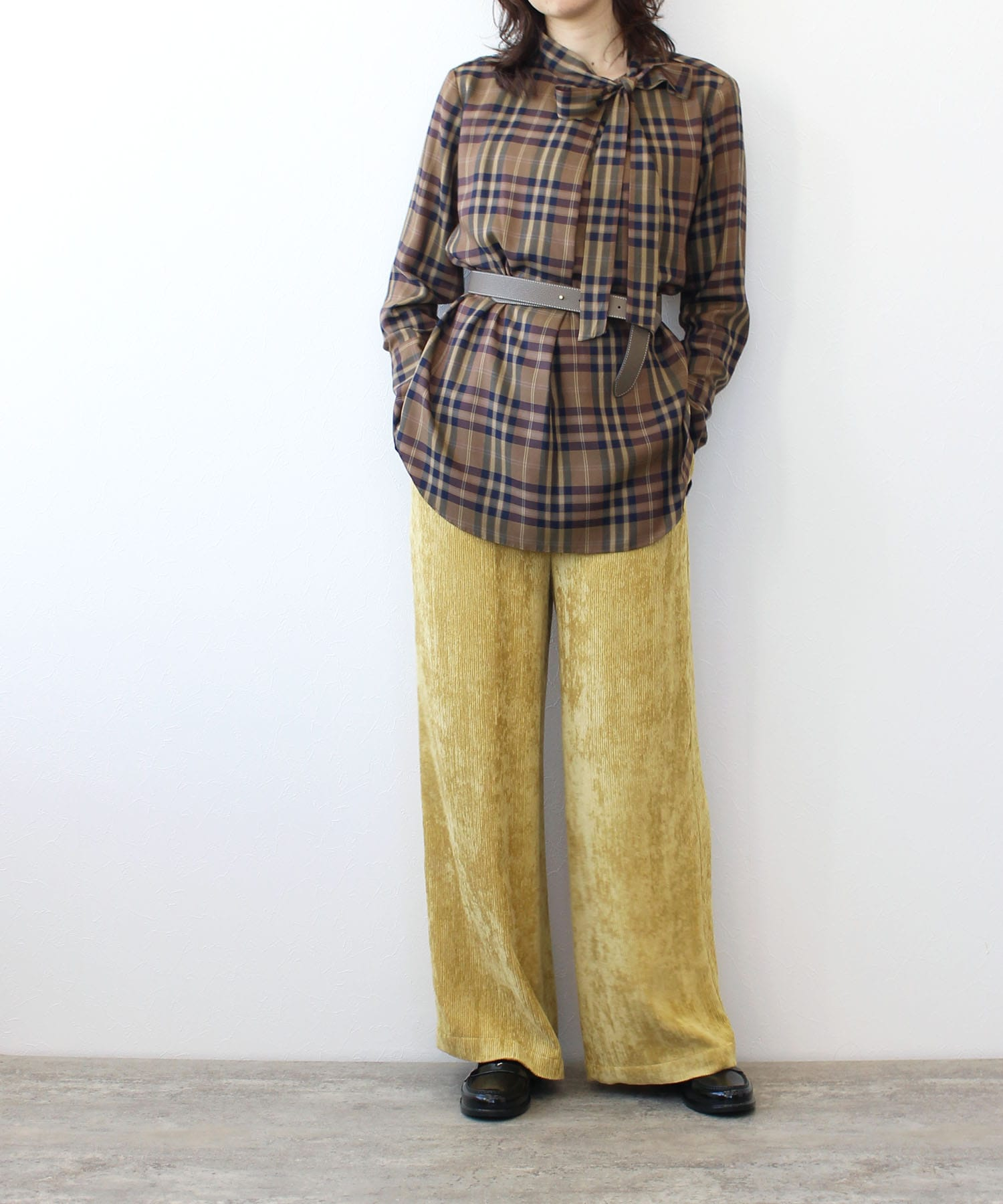 corduroy relax set up pants
