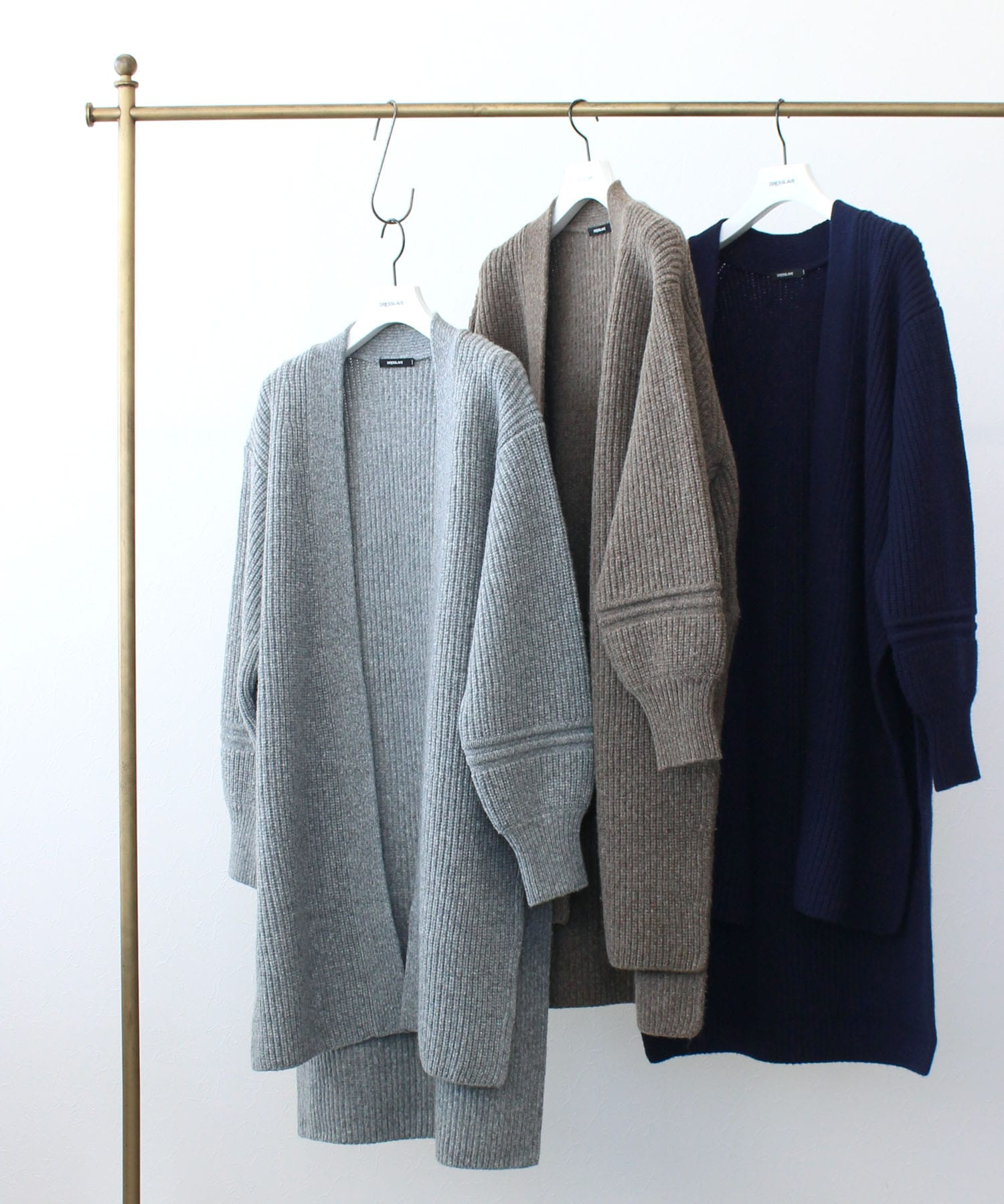air wool long cardigan