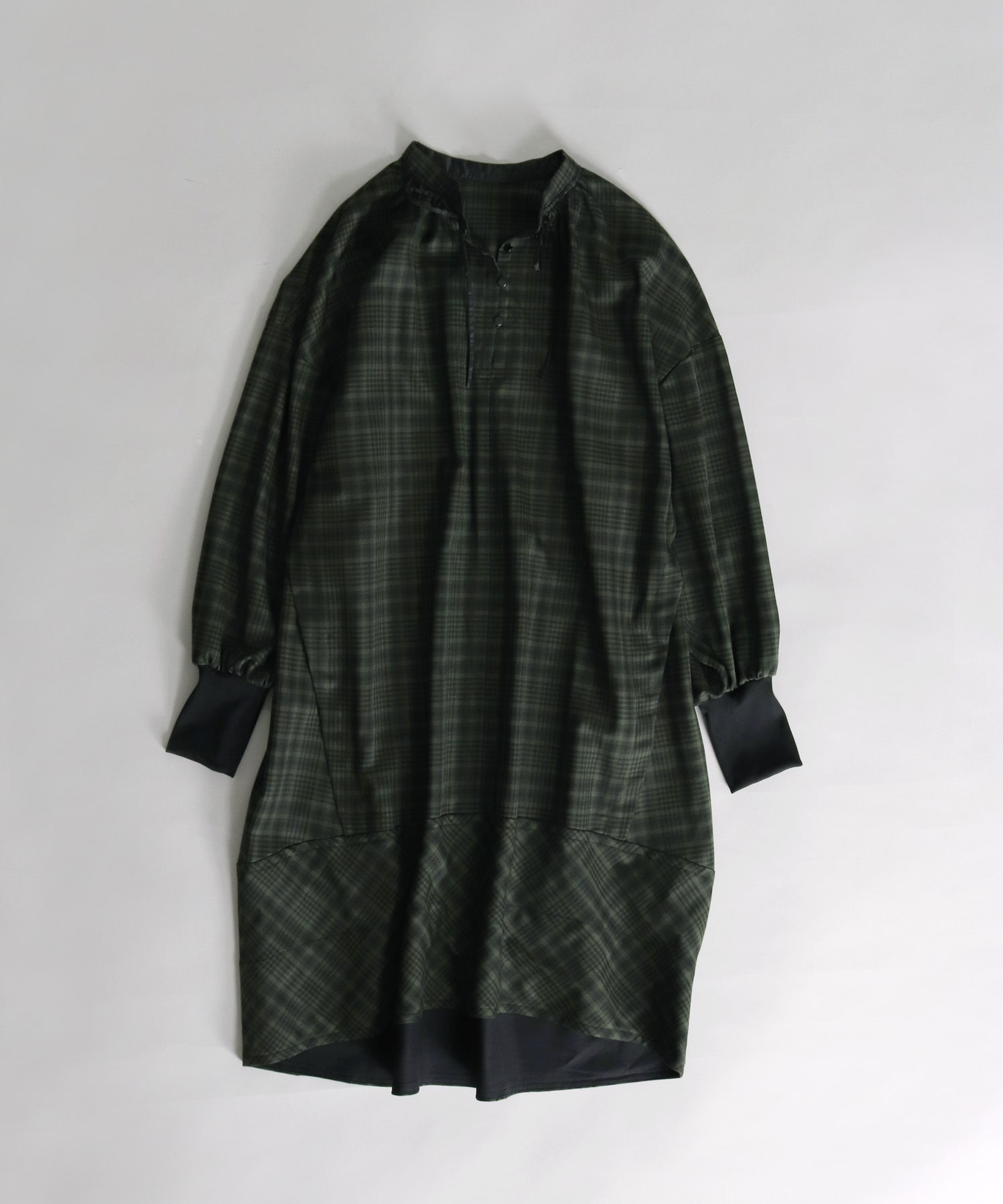 T/W plaid egg shell dress