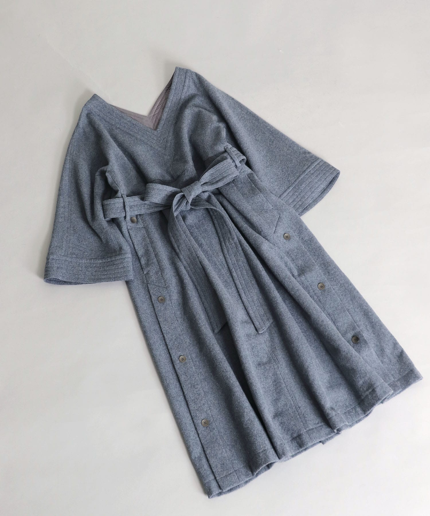 wool bell sleeve dress