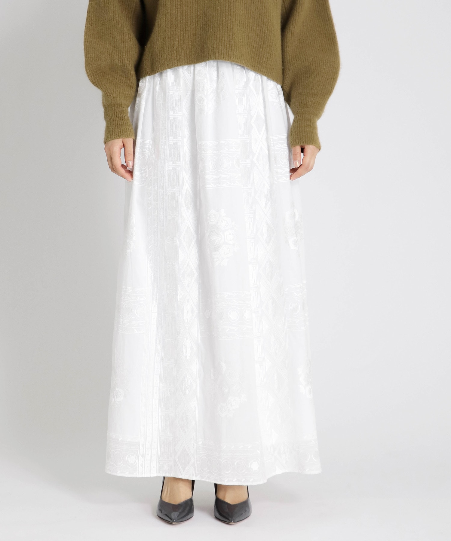 embroidery structure skirt