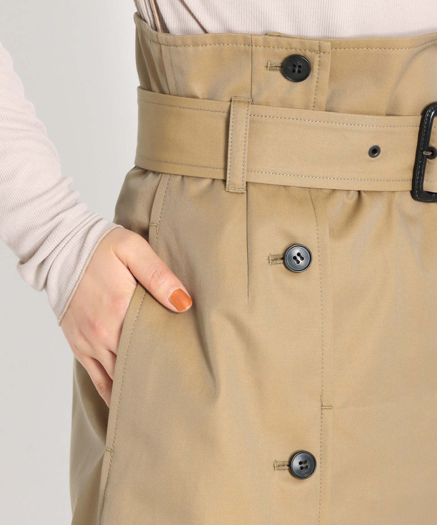 compact burberry trench skirt