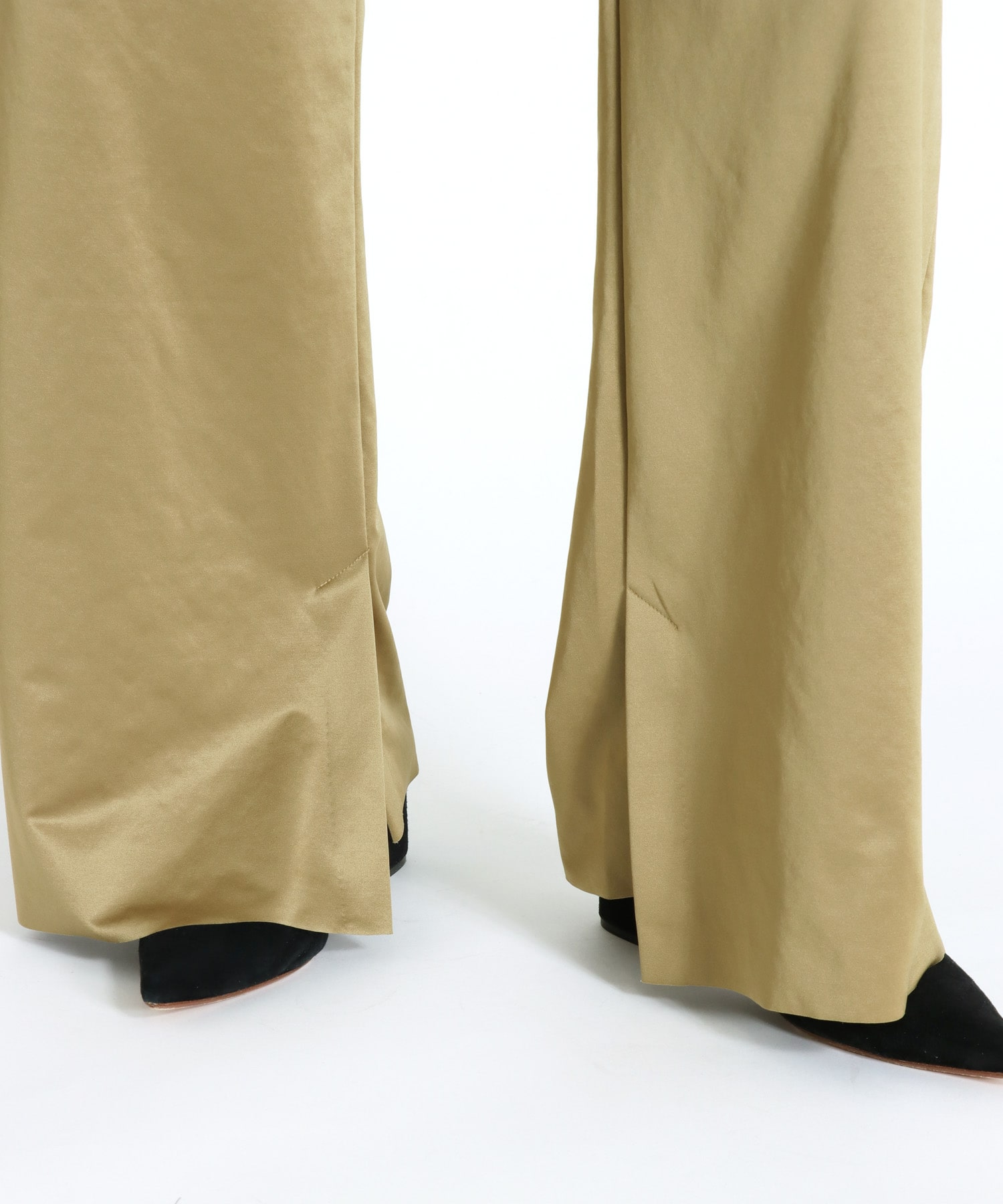 washed satin daily basis vents pants