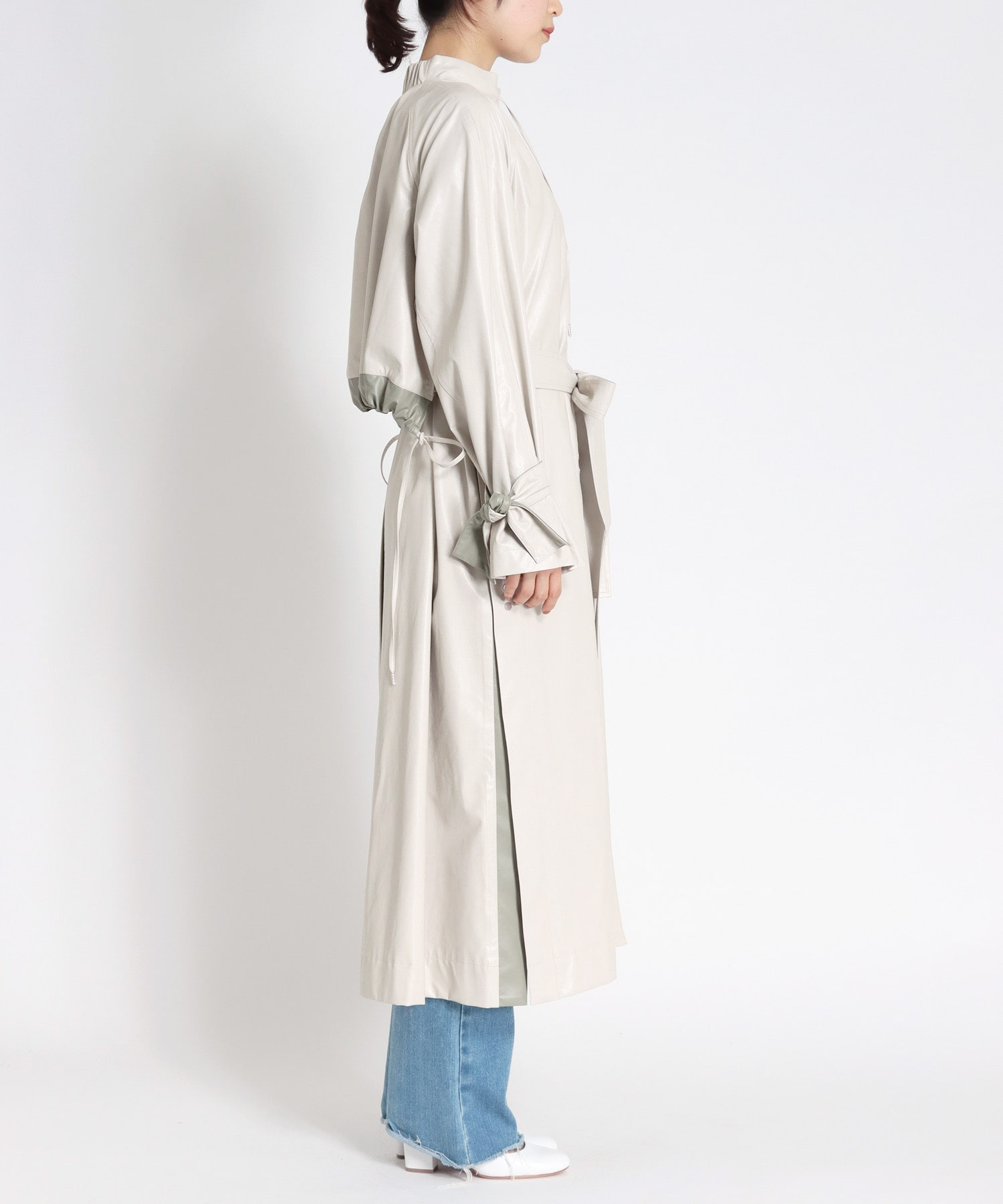 eco leather baloon coat