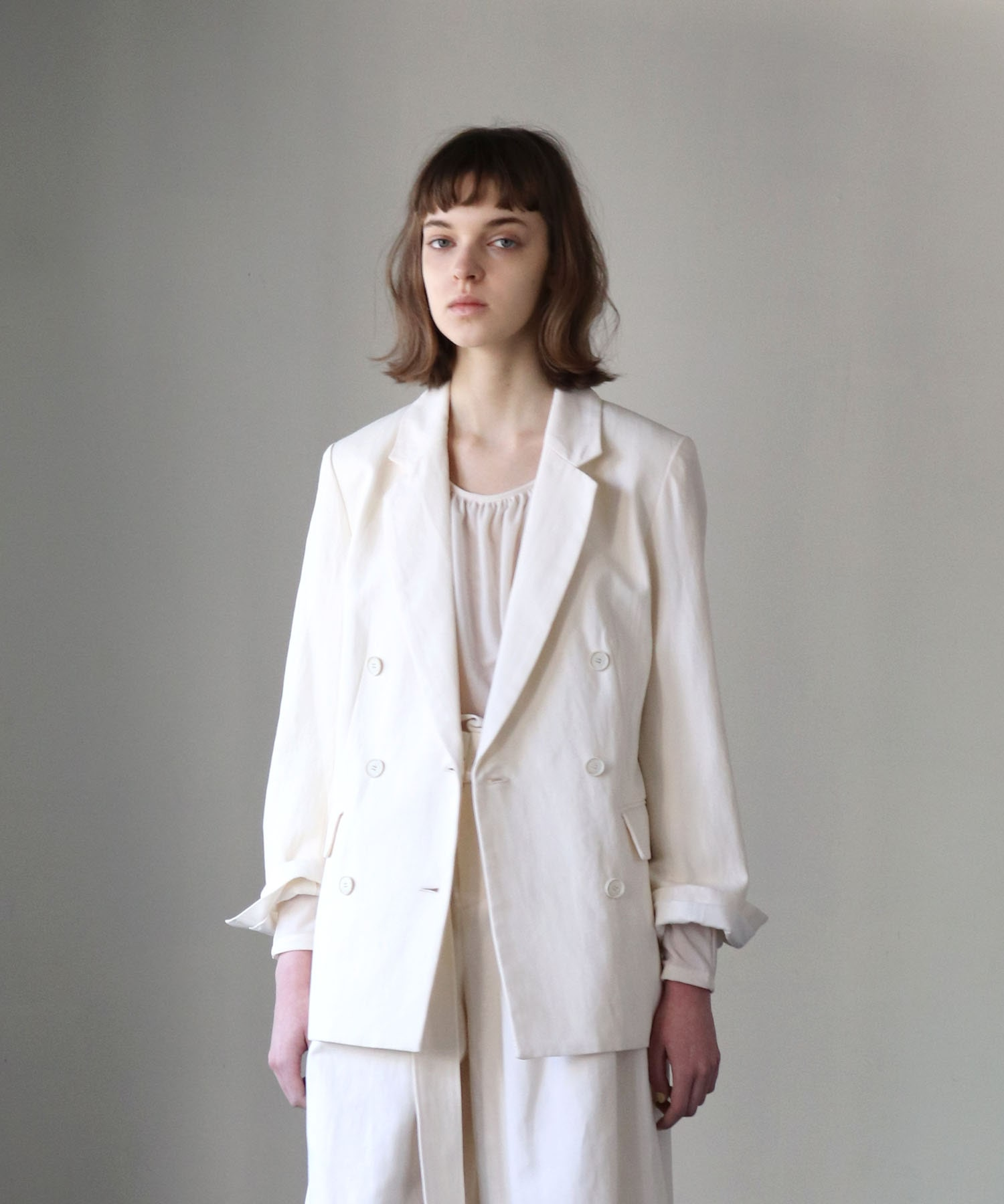 cotton linen double jacket